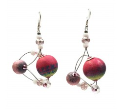 Pendientes Drop 4 cm - Luna - Splash