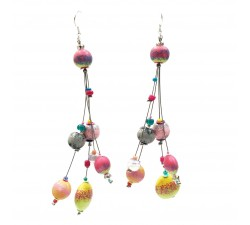Boucles d'oreille Goute 12 cm - Lune - Splash