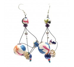 Earrings Rosace earrings 7 cm - Multicolor - Splash Babachic by Moodywood