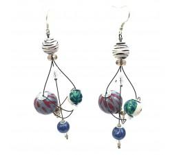 Earrings Rosace earrings 7 cm - Zebra - Splash Babachic by Moodywood