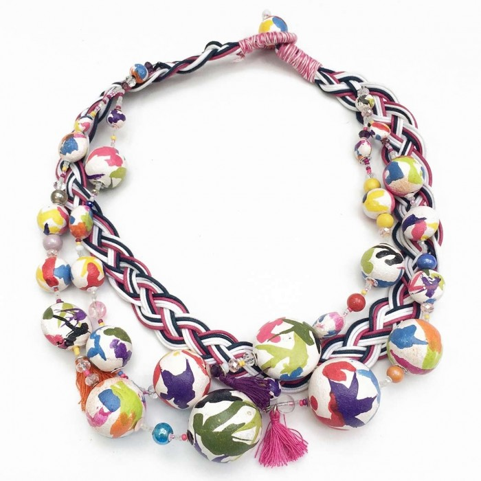 Collier Tresse - Multicolores - Splash