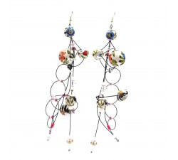 Boucles d'oreilles Boucles d'oreille Torsade 16 cm - Fleur - Splash Babachic by Moodywood