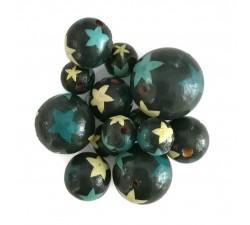 Etoiles Perles en bois - Etoiles - Bleu Babachic by Moodywood