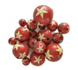 Estrellas Cuentas de madera - Estrellas - Rojo Babachic by Moodywood