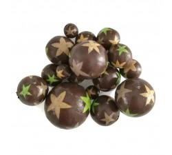 Stars Wooden beads - Stars - Brown and green Babachic by Moodywood