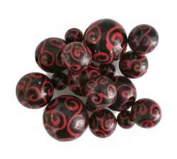 Spirales Perles en bois - Spirales - Rouge et noir Babachic by Moodywood