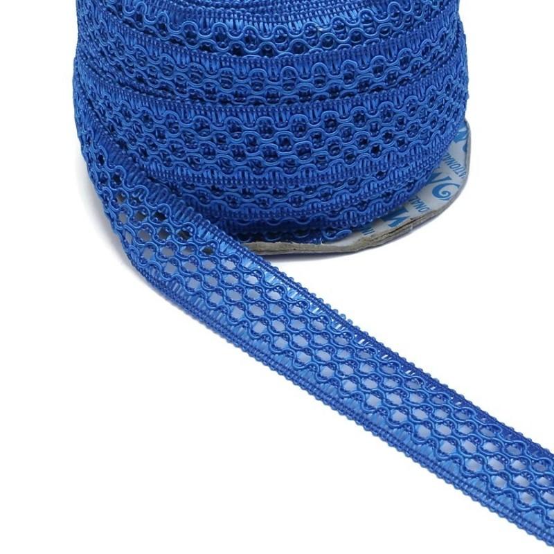 Ruban dentelle - Bleu - 20 mm