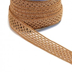 Lace Lace ribbon - Camel - 20 mm babachic