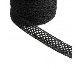Lace Lace ribbon - Black - 20 mm