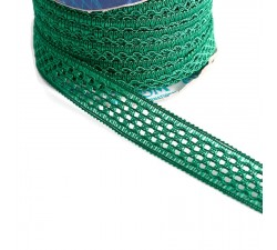 Lace Lace ribbon - Green - 20 mm babachic