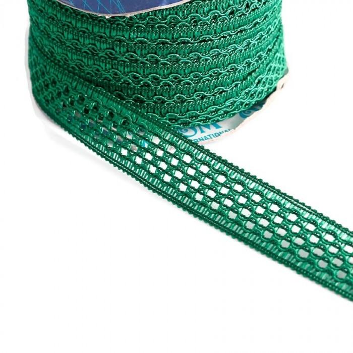 Ruban dentelle - Vert - 20 mm