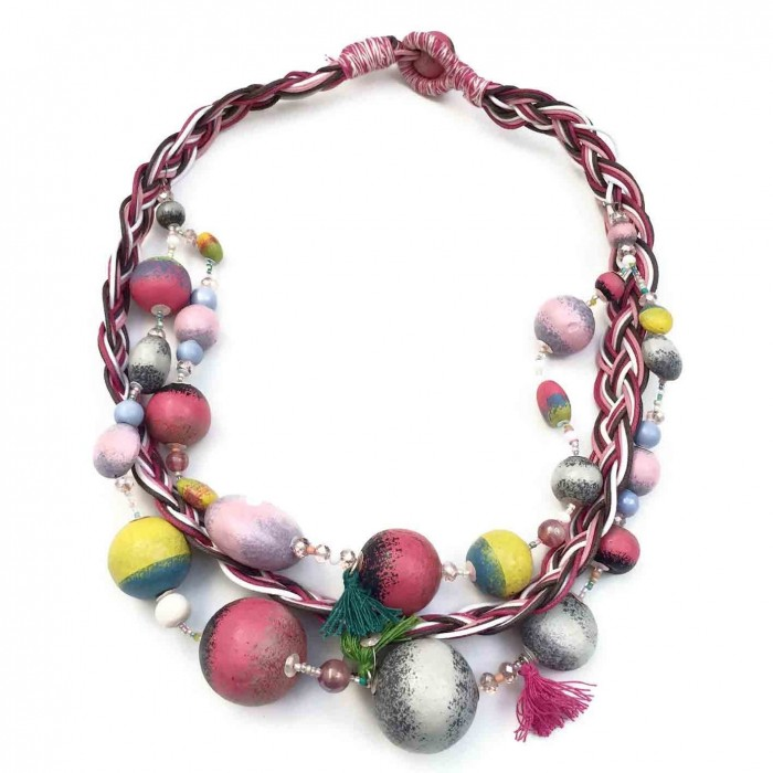 Collier Tresse - Lune - Splash