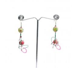 Boucles d'oreilles 6 cm - Amande