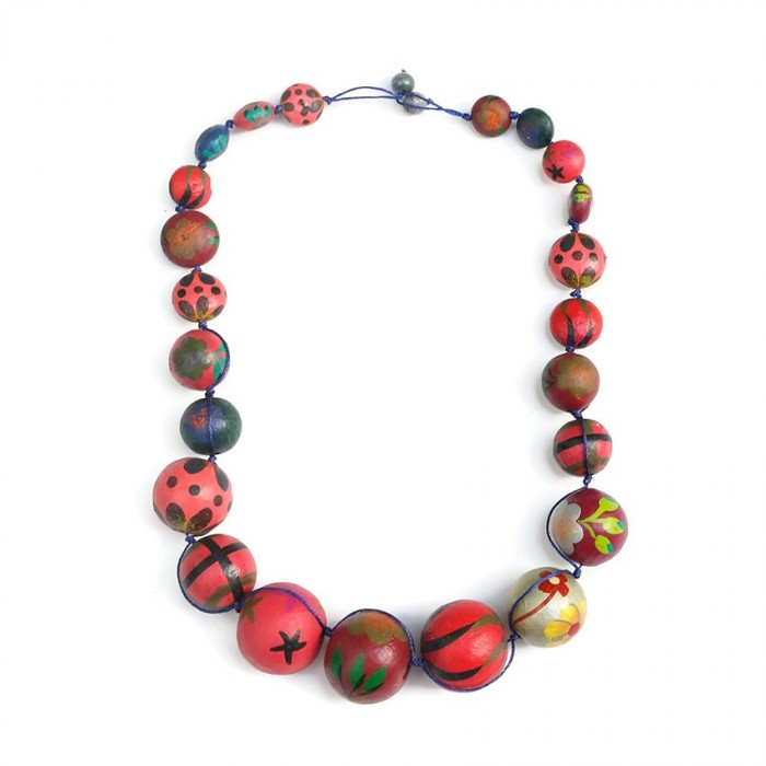 Short Round necklace - Cherry