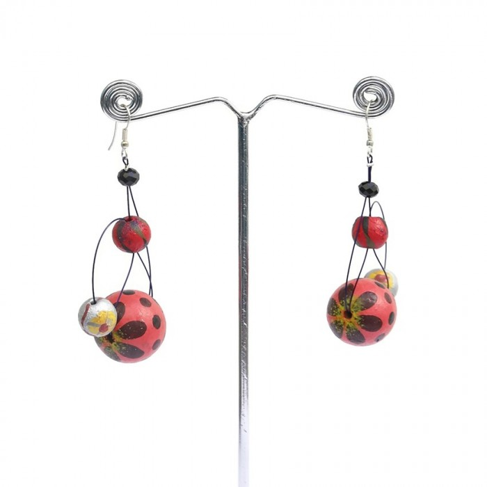 Earrings 6 cm - Cherry