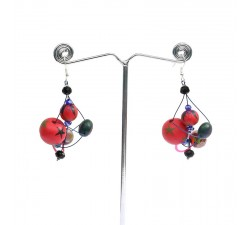 Earrings Earrings Drop - Cherry Babachic by Moodywood