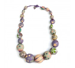 Necklaces Short Round necklace - Lilac Babachic by Moodywood