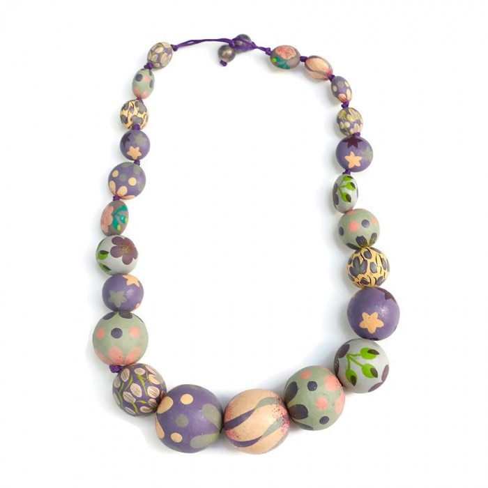 Short Round necklace - Lilac