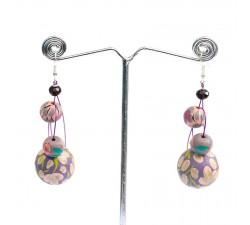 Earrings Earrings 6 cm - Lilac Babachic by Moodywood