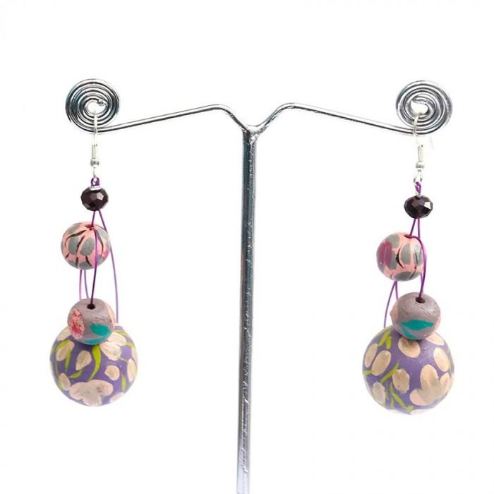 Earrings 6 cm - Lilac