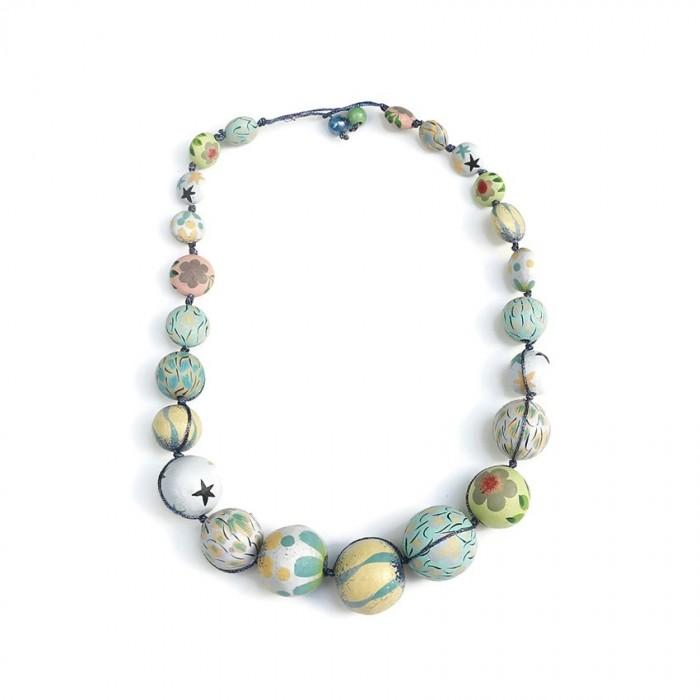 Short Round necklace - Celeste