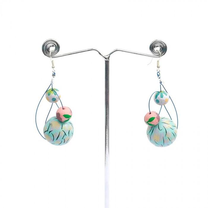 Earrings 6 cm - Celeste
