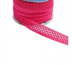 Lace Lace ribbon - Fuchsia - 20 mm babachic