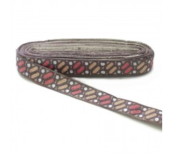 Embroidery Embroidery Dragibus - Salmon, pink and white - 30 mm babachic