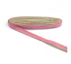 Embroidery Embroidered braid - Petals - Pink and golden - 20 mm babachic