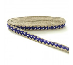 Mirrors braid - Triangle - Blue - 25 mm