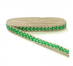 Braid Mirrors braid - Triangle - Green - 25 mm babachic