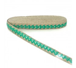 Braid Mirrors braid - Triangle - Turquoise - 25 mm babachic