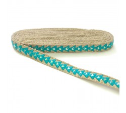 Braid Mirrors braid - Triangle - Sky blue - 25 mm babachic