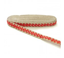 Braid Mirrors braid - Triangle - Red - 25 mm babachic