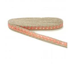 Braid Mirrors braid - Triangle - Pink - 25 mm babachic
