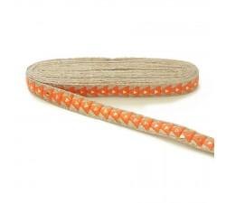 Braid Mirrors braid - Triangle - Orange - 25 mm babachic