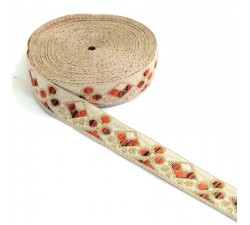 Ribbons Woven braid - Casino - Orange - 22 mm