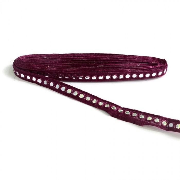 Mirrors braid - Eggplant - 18 mm