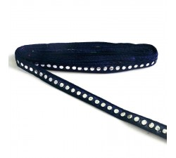 Braid Mirrors braid - Dark blue - 18 mm