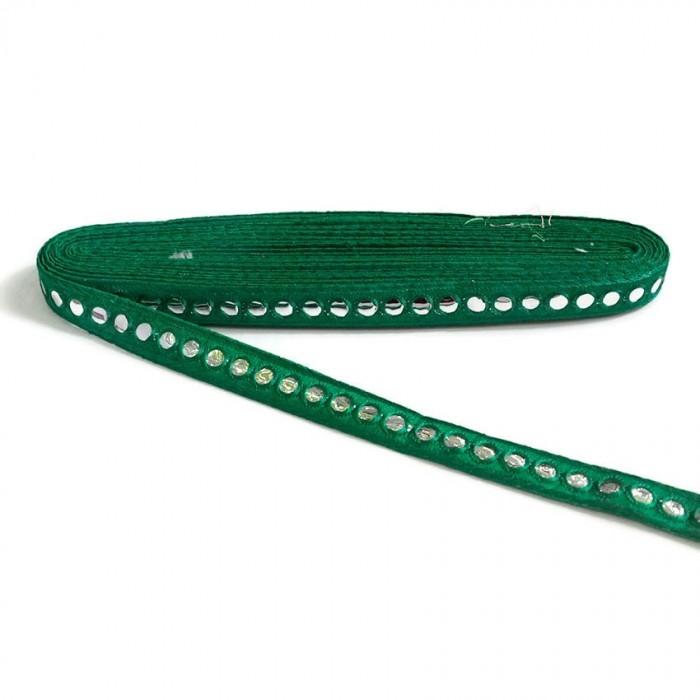 Mirrors braid - Fir green - 18 mm
