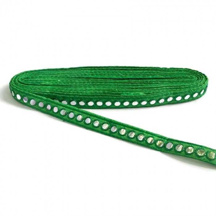 Mirrors braid - Green - 18 mm