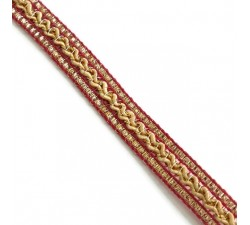 Braid Ethnic braid - Pink, beige and golden - 10 mm babachic