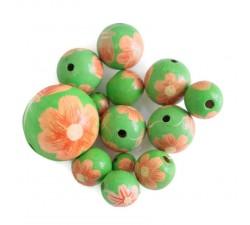 Fleurs Perle en bois - Ballerina - Rose et vert Babachic by Moodywood