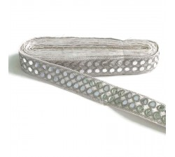 Braid Mirrors braid - Double line - Silver - 30 mm babachic