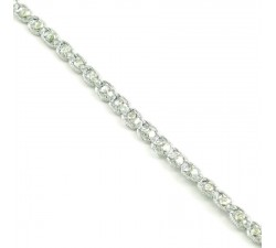 Braid Indian braid - Diamonds - Silver - 6 mm