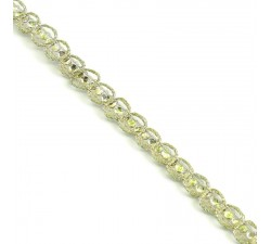 Braid Indian braid - Diamonds - Golden - 6 mm