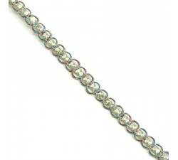 Braid Indian braid - Diamonds - Multicolor and golden - 6 mm