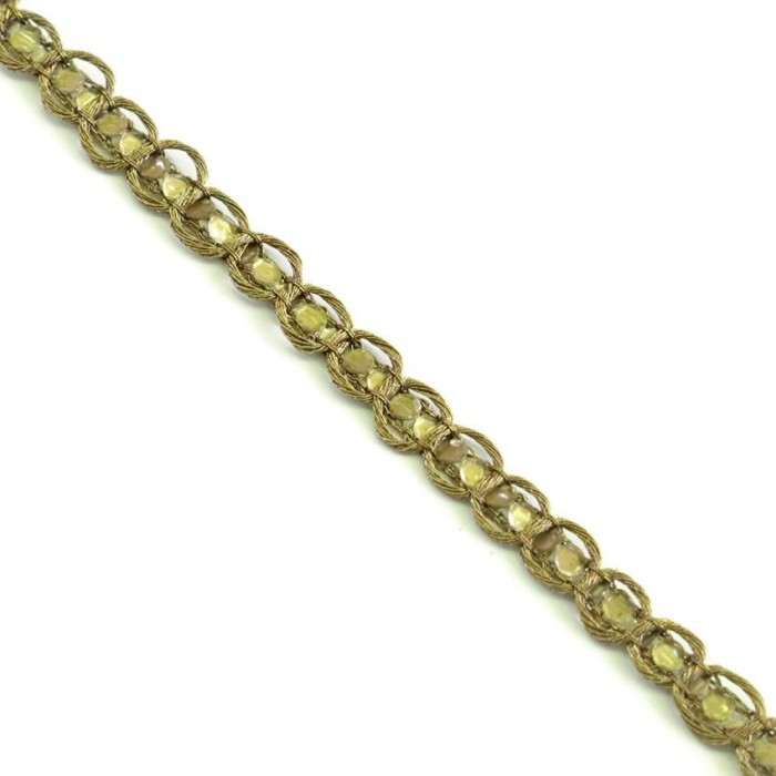 Braid Indian braid - Diamonds - Bronze - 6 mm