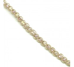 Braid Indian braid - Diamonds - Light pink - 6 mm