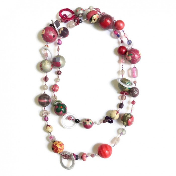 Kits necklace DIY - Sautoir - Magenta